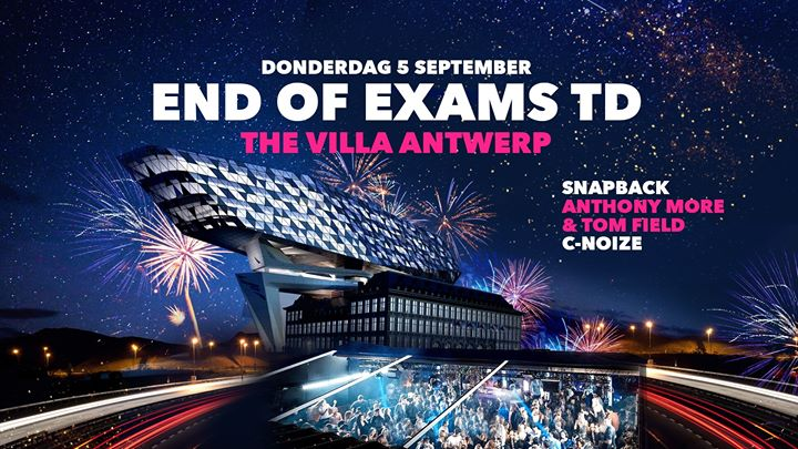 END of EXAMS TD ∙ 5 Sept ∙ The Villa