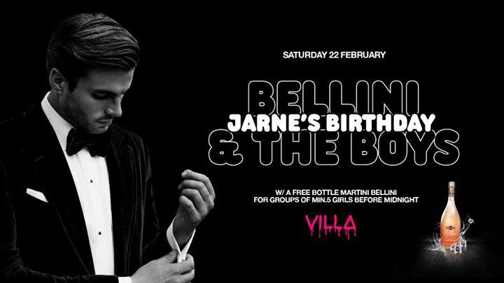 Sat.22 Feb • JARNE BAELE's BIRTHDAY • The Villa Antwerp